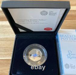 Beatrix Potter Complete 2017 Silver Proof 50p Coins Full Set + COA Royal Mint