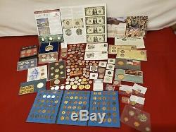 COIN U. S. & FOREIGN LOT, collection PROOF SETS, SILVER STATE QUARTER PF70, IRAQI
