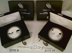 COMPLETE SET 1986 2019 W&S SILVER EAGLE PROOFS, Original Packaging, 35 Coins