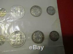 Canada 4/Four 1958 Silver Proof Like Sets in Original Packing & Mint Envelope