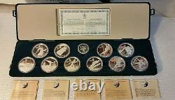 Canada Silver $20 Dollar each, 10 Coin Set, 1988 Calgary Winter Olympics #101669