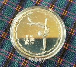 China 1979 3 piece Silver Proof Medal Set 4th National Games with Box / Cert