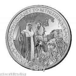 Christmas Nativity 2014 Pure Silver Niue 2 Dollar 3 Coin Proof Set Pamp Suisse
