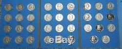 Complete Benjamin Franklin Half Dollar 35 coin set proofs 90% silver High grade