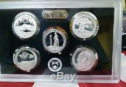 Complete set of America the Beautiful Quarters Silver Proof Sets 10 sets 2010-19