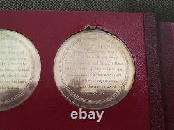 Franklin Mint 19th Century Medalic Bible Medals Sir Edward Thomason Silver Coins