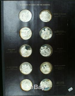 Franklin Mint Genius of Michelangelo 60 Proof Silver Medal Set