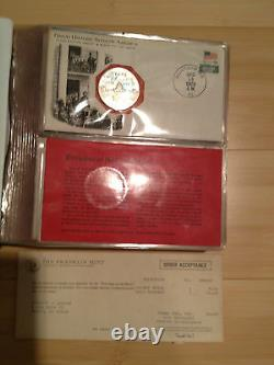 Franklin Mint Great Historic Sites of America Set/25 Silver Coins 1st Album