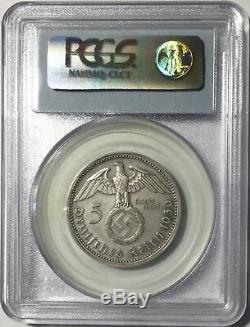 Germany Third Reich 3pc Matte Proof Set Silver 5 & 2 Mark Hindenburg PCGS UNIQUE