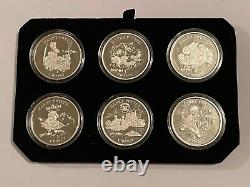 Harry Potter Coins- FIRST SILVER PROOF SET 2001 Pobjoy Mint RARE