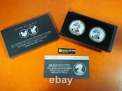 In Stock 2021 W & S Reverse Proof Silver Eagle 2 Coin Designer Edition Set 21xj