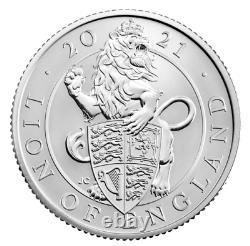 In Stock Queens Beast 2021 UK Quarter-Ounce Silver Proof 10 (Ten) Coin Set