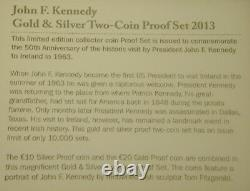 J. F. Kennedy's Visit To Ireland 1963. 50th Anniversary Gold & Silver Proof Set