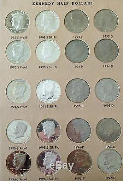 Kennedy Silver Half Dollar Complete Uncirculated Proof Set 90% SILVER COINS