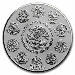 LIBERTAD MEXICO 2018 2 Coin 5 oz & 2 oz Reverse Proof Silver Coin Set in Case