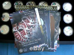 LONDON 2012 OLYMPICS FULL 18X £5 SILVER PROOF COLLECTION BRITAIN CELEBRATION SET