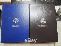 Lot Of 26 U. S. Mint Silver Proof Sets 1992-2006 + 2 Prestige & One Premier