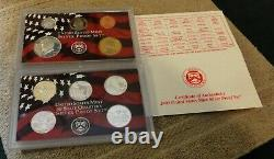 Lot (10) 1999-2008 United States Silver Proof Sets With 50 State Quarters OGP