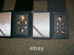 Lot Of 6- Us Mint Prestige Proof Sets- (dollar Coins In Sets Are 90% Silver)