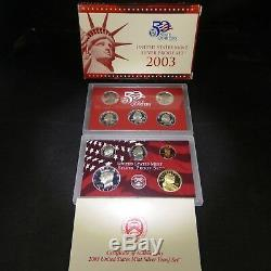 Lot of 5 US Mint Silver Proof Sets 2002, 2003, 2004, 2005, & 2006 COAs
