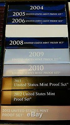 Lot of Proof Sets 1955-2016 US Mint Proof Sets Silver 61 Years