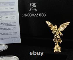 MEXICO 2012 Libertad 30th Anniversary Silver Set 1oz Proof 1/2oz BU 1,500 sets