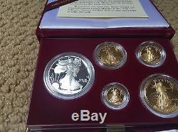 MINT COA 1995-W Proof 10th Anniversary American Eagle 5-Coin Gold and Silver Set