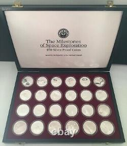Marshall Islands $50.00 Silver Proof Set The Milestones of Space exploration