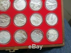 Marshall Islands The Legendary Aircraft of WWII $50 PROOF. 999 Pure Silver Set