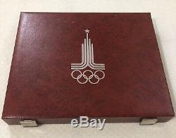 Moscow Olympics 1980. A Set Of Silver Coins. Proof