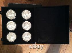 NORMAN ROCKWELL SATURDAY EVENING POST 12 5oz. PROOF COIN SET #250/1000 MINT