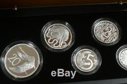 Number 0001 1966 Australian Decimal Pattern Silver Proof 5 Coin Set
