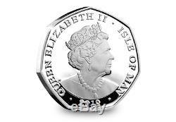 Official 2019 Peter Pan Silver Proof 50p Coloured Coin Set Royal Mint -Ltd Edt