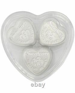 PAMP 30 Gram Silver Sweethearts Set GEM Reverse Proof PRESALE