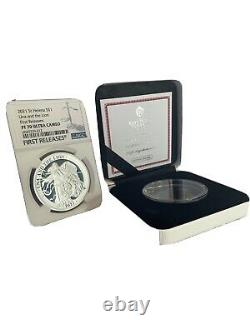 PF70 2021 St Helena una and the lion 1oz silver proof coin