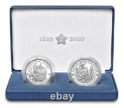 PRESALE400th Anniversary of the Mayflower Voyage Silver Proof Coin and Medal Set