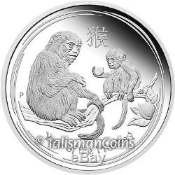 Perth Australia 2016 Year of Monkey 3 Coin Pure Silver Proof Set MINTAGE 1,000