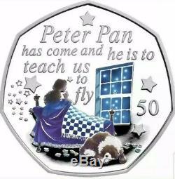 Peter Pan Silver Proof Coloured 50p Set 2019 Ltd. Edition. Low Coa 107