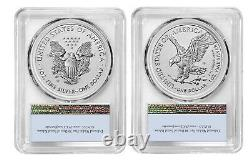 Presale 2021 ASE One Ounce Reverse Proof Two-Coin Set Designer Edition PCGS PR70