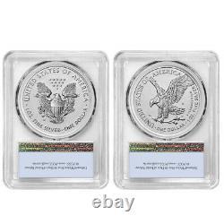 Presale 2021 Reverse Proof American Silver Eagle Designer 2pc Set PCGS PR69 FS