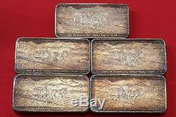 Proof Set 5 3oz 999 Silver Bars 1969 WH Foster Walla Walla Wash Serial No. 1058