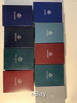 Rare 1996 & 1986 1987 1988 1990 1991 1993 1994 1995 PRESTIGE SILVER PROOF SETS