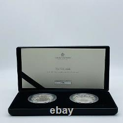 Rare 2021 Royal Mint Silver Proof & Frosted Proof 1oz Britannia £2 Twin Coin Set