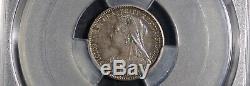 Rare High Grade Victoria 1893 Silver Proof Set, All Graded Pcgs Pr64