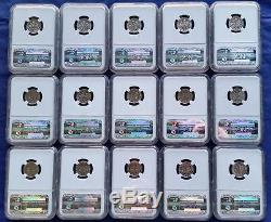 Roosevelt Dimes 15 Piece Silver Proof Set 1950-1964 NGC PF67 WithBox