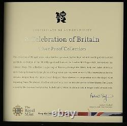 Royal Mint London 2012 Celebration of Britain 18 Coins £5 Silver Proof Set 2009