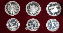 Russia USSR 1980 Moscow Olympics 20.24 Oz Silver 28 COIN GEM Proof Set +BOX &COA