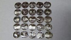 Set of 25 Proof 90% Silver State Quarters 2003 2004 2005 2006 2007