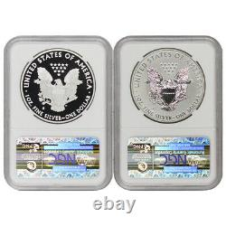 Set of 2 2012-S $1 Silver Eagles NGC PF69 and PF69UCAM Proof Rev PR SF mint coin