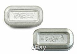 Set of 6 PAMP 5g Silver Rev Proof Bar PEZ Wafers w Rubber Duck Dispenser PRESALE